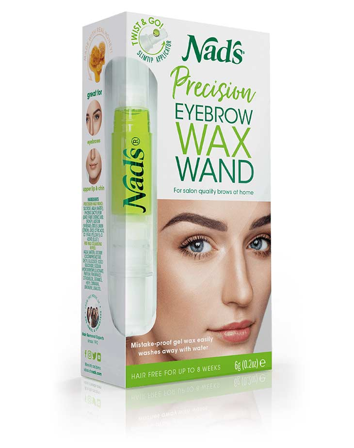 Nad's Hair Removal Precision Eyebrow Wax Wand product packaging