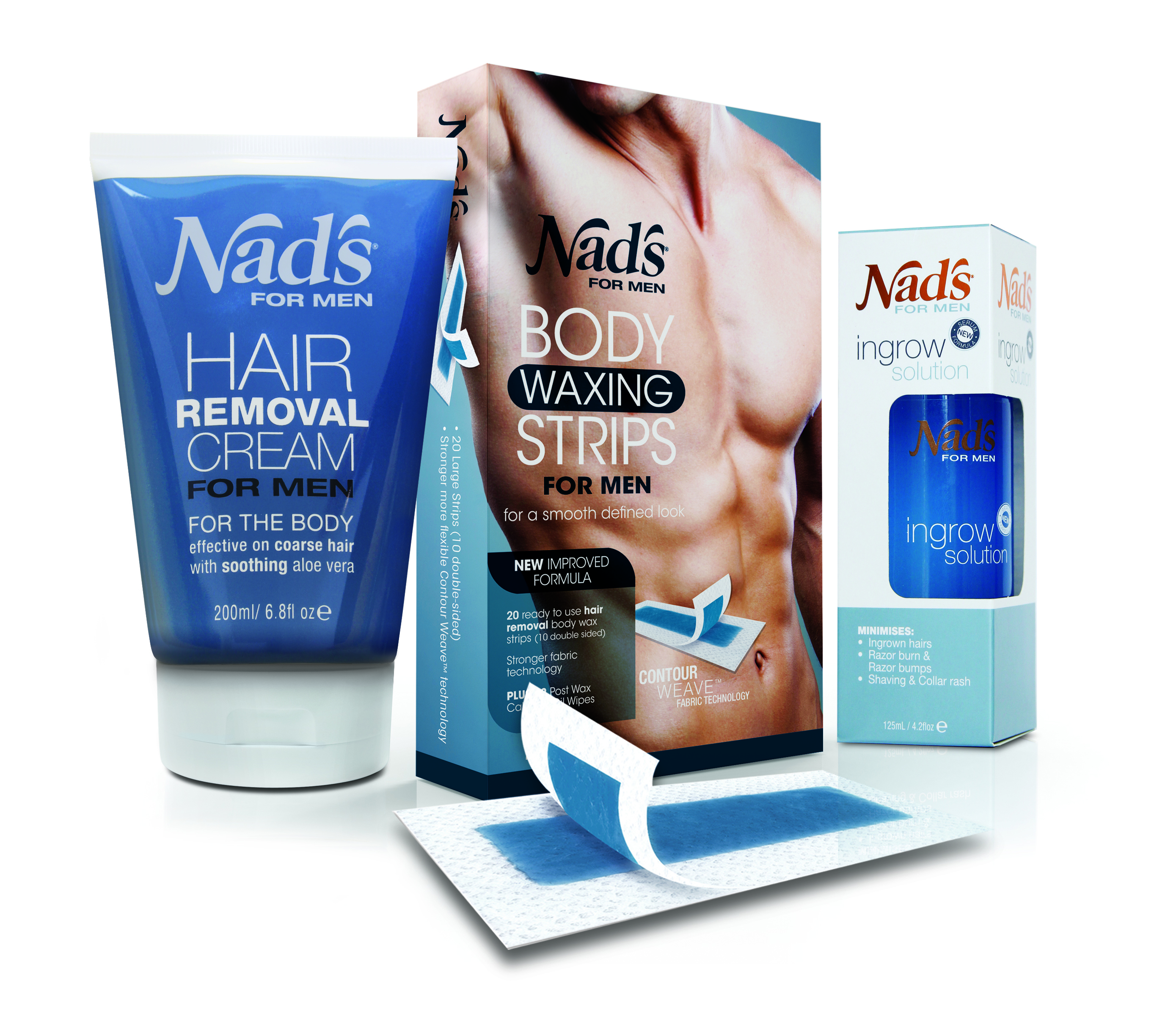 Mens Face Wax : Benefits of Nad?s Hair Removal  Men?s Range