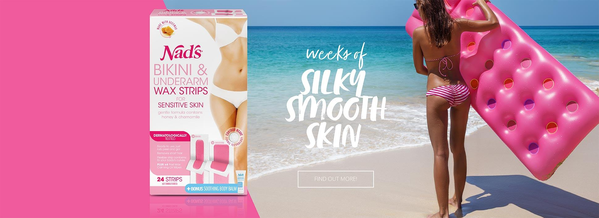 Nad's Bikini Underarm Wax Strips - Weeks of Silky Smooth Skin