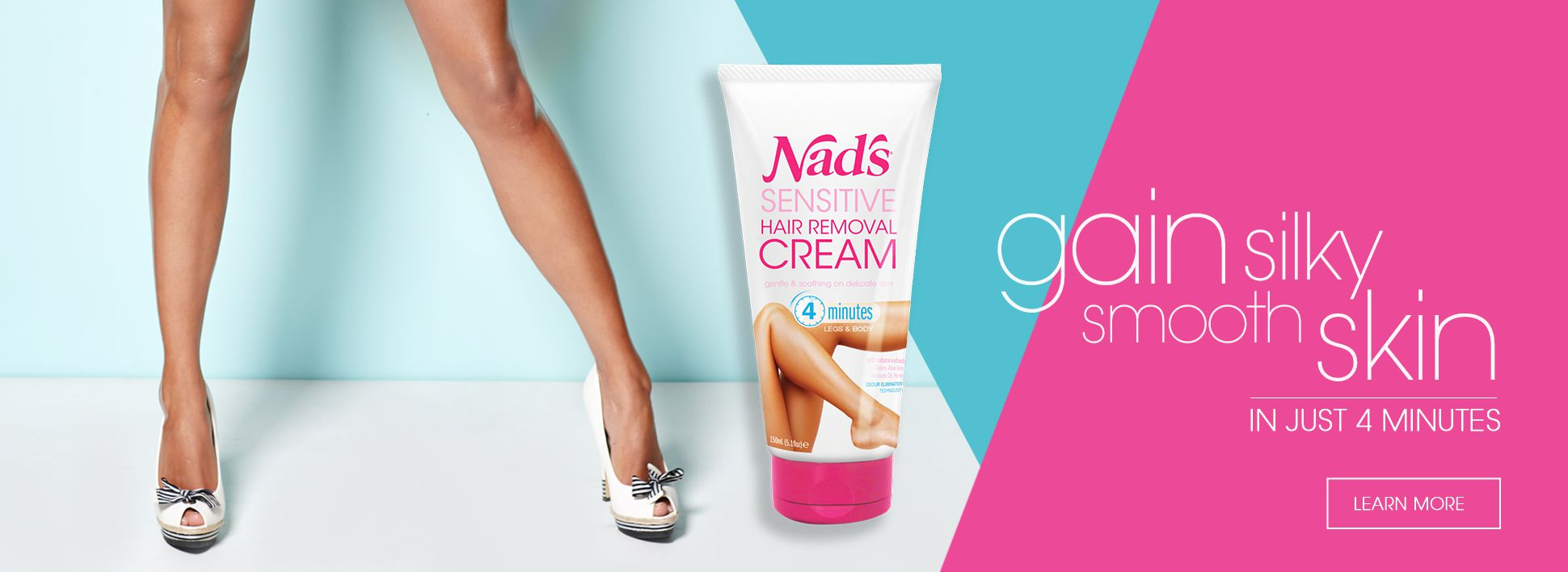 Nad's New Sensitive Hair Removal Cream - Gain Silky Smooth Skin
