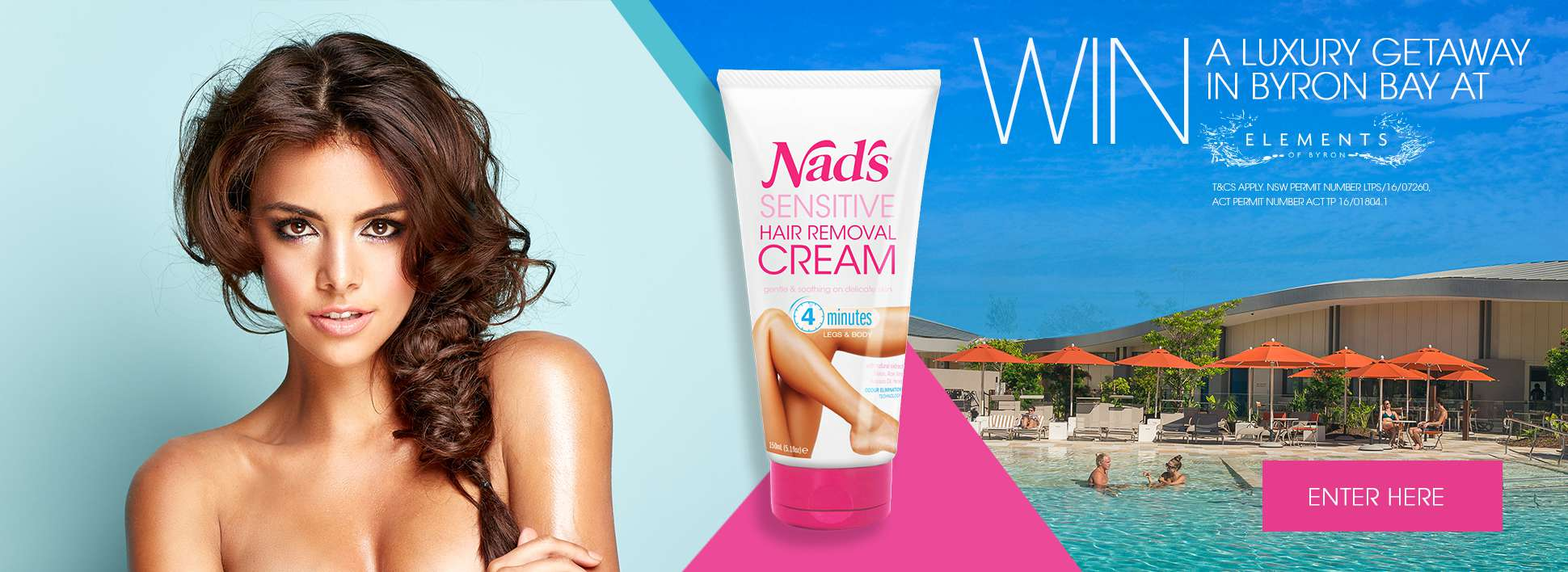 Nad's New Sensitive Hair Removal Cream - Win Byron Bay Competition