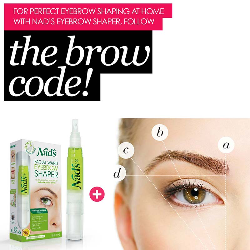 Brow Code with Nad's Natural Hair Removal Facial Wand Eyebrow Shaper