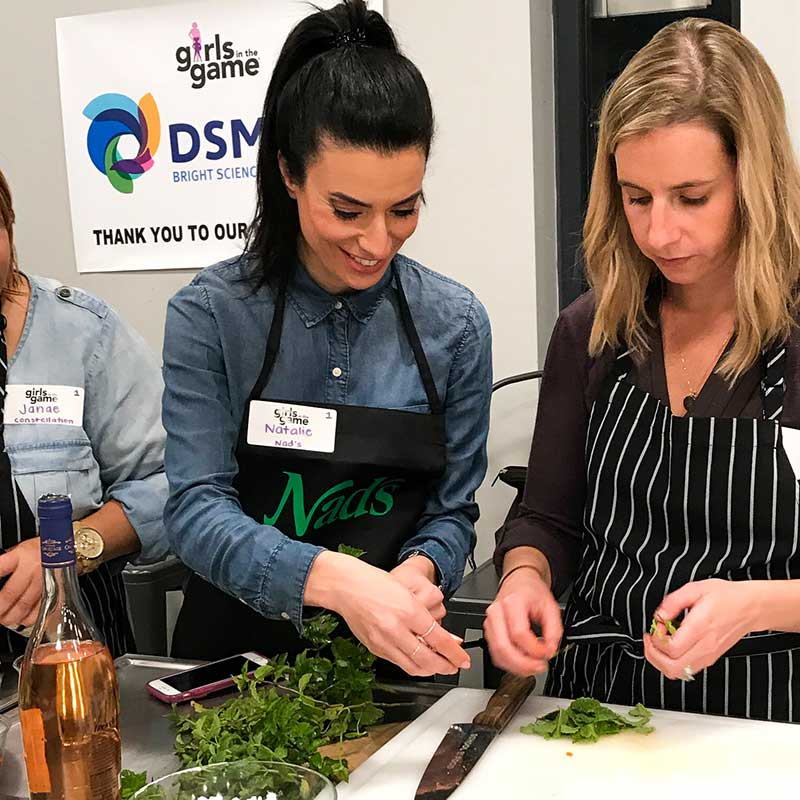 Team Nad's | Girls in the Game - Women Empowerment | Natalie Ismiel Cooking