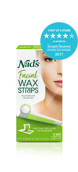 Nad's Hair Removal Facial Wax Strips