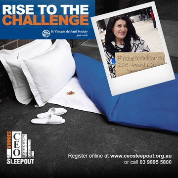 Nad's Sue Ismiel: I Slept Out at the Vinnies CEO Sleepout | Nad's Hair Removal Blog