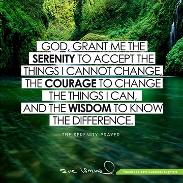 The Serenity Prayer - my daily mantra (and your free download!) | Sue Ismiel Nad's Global Brand Ambassador