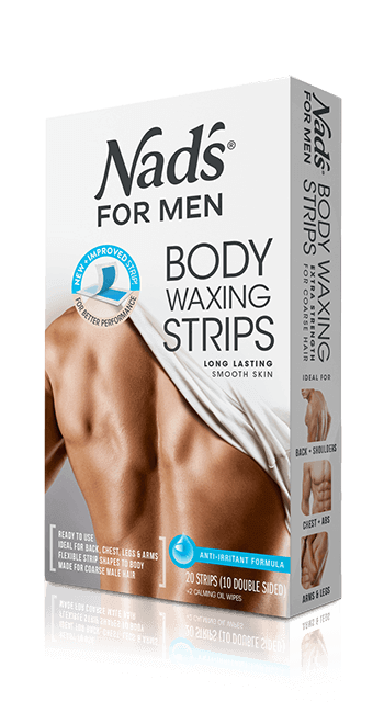 Nad's for Men Hair Removal Body Waxing Strips