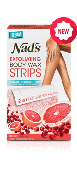 Nad's Hair Removal Exfoliating Body Wax Strips