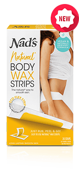 Nad's Natural Hair Removal Body Wax Strips