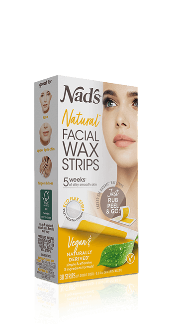 Nad's Natural Hair Removal Facial Wax Strips