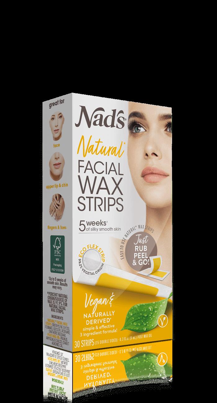 Nad S Natural Hair Removal Facial Wax Strips