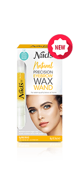 Nad's Natural Hair Removal Precision Eyebrow Wax Wand