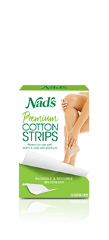 Nad's Hair Removal Premium Cotton Strips for Waxing