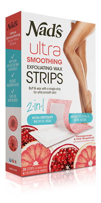 Nad's Hair Removal Ultra Smoothing Exfoliating Body Wax Strips