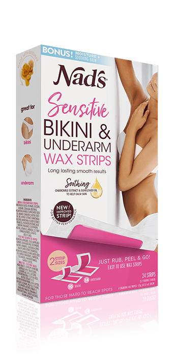 Nads Hair Removal Sensitive Bikini Underarm Wax Strips