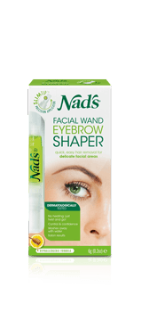 Nad's Natural Hair Removal Facial Wand Eyebrow Shaper
