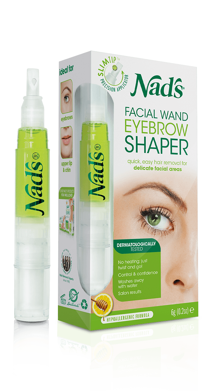 Nads Natural Hair Removal Facial Wand Eyebrow Shaper