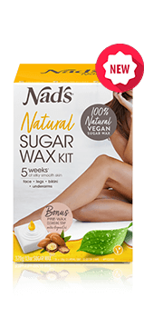 Nad's Natural Hair Removal Sugar Wax 370g